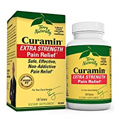 Safe, Effective, Non-Addictive Pain-Relief; Curamin Extra Strength safely and effectively reduces occasional muscle pain due to exercise or overuse; it causes no kidney, liver, or intestinal damage Over 50 Published Studies; Curamin is made with the ...