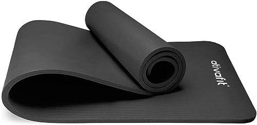 ATIVAFIT Yoga d'exercice Tapis de Sol Grande rembourré Extra épais 12 mm antidérapant entraînement Pilates Tapis d'ex...