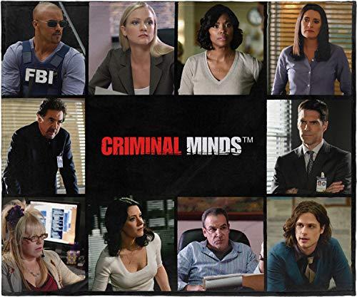 INTIMO Criminal Minds Cast TV Series Super Soft Plush Fleece Throw Blanket 50' x 60' (127cm x152cm)