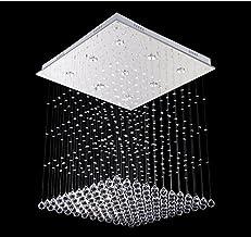 "GOWE W23.6"" X H23.6"" Modern 9 LED Bulbs Crystal Chandelier Pendant Lamp RainDrop suspension Light lighting 110V/ 240V"