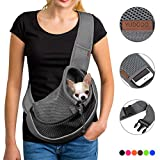 YUDODO Reflective Pet Dog Sling Carrier Breathable Mesh Travel Safe Sling Bag...