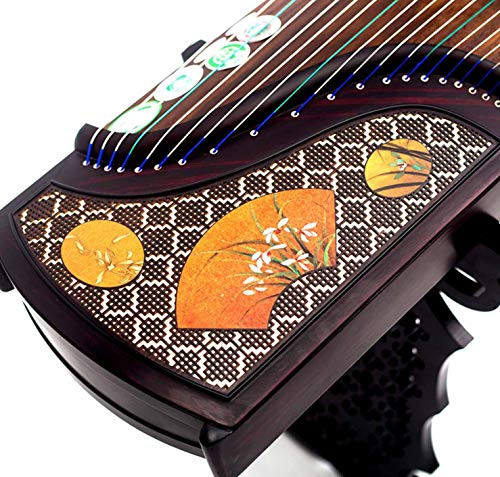 Guzheng 21-Saiten, 163 cm, hochwertiges Zubehör für professionelle Spieler und Prüfer gelb