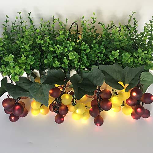 MIDUO Solar-Lichterkette mit 80 LEDs, wasserdicht, Weintraube, Weihnachtsdekoration, Warmweiß