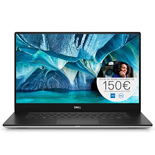 Dell XPS 15-7590 Ordinateur Portable ultra leger 15' IPS Full HD Silver (Intel Core i5, 8Go de RAM, SSD 512Go, NVIDIA GeForce GTX 1650 4GB, Windows 10 Home) Clavier AZERTY Français