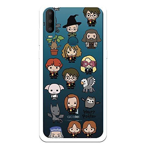 Funda para Alcatel 1S 2020 Oficial de Harry Potter Personajes Iconos para Proteger tu móvil. Carcasa para Alcatel de Silicona Flexible con Licencia Oficial de Harry Potter.