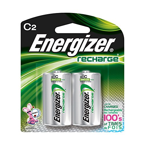 Energizer e2 C2 NiMH Rechargeable Batteries, C, 2/pack - Pack of 6 Total of 12 Batteries