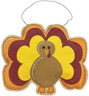 Burlap Turkey Thanksgiving Decor Front Door 16.5