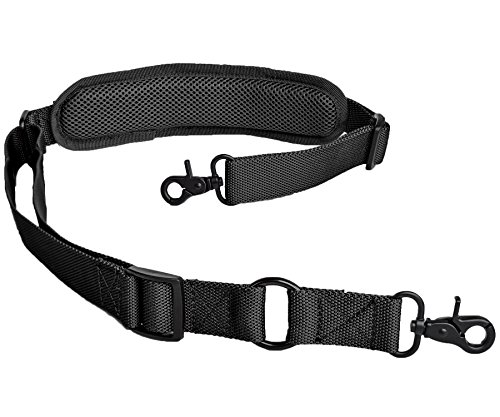 LANHE TACTICAL 2 Point Rifle Sling with Shoulder Pad Quick Adjustable Gun Strap Multi-Use Two Point Sling (Black)