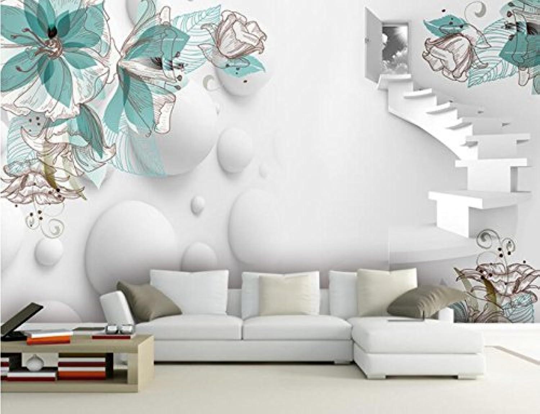 HHCYY 3D Papel Pintado Stereo Flower Sala De Estar Tv Wall Decorativo Sala De Estar Dormitorio Mural Photo-200cmx140cm