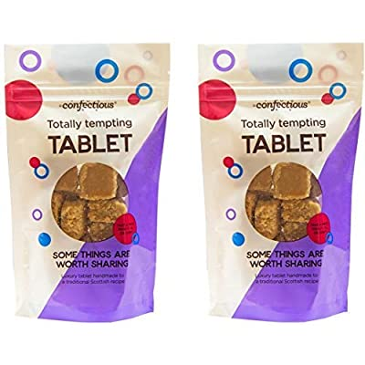 scottish tablet - totally tempting tablet sharing bag 2 x 150g Confectious – Handmade Traditional Scottish Tablet – Totally Tempting Tablet Sharing Bag – 2 x 150g (300g) 51O0 Jok7BL