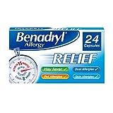 Benadryl Allergy Relief, 24 Capsules