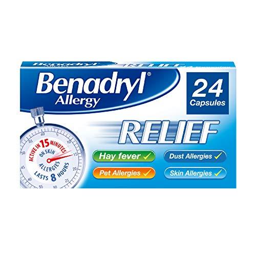 Benadryl Allergy Relief Capsules – fast acting antihistamine