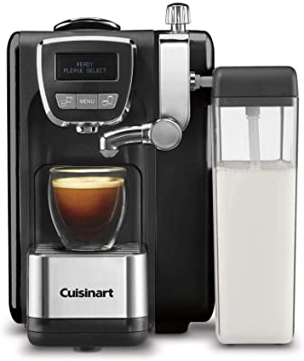 "Cuisinart EM-25 Defined, Cappuccino & Latte Espresso Machine, 13.5""(L) x 8.0""(W) x 10.0""(H), Black"