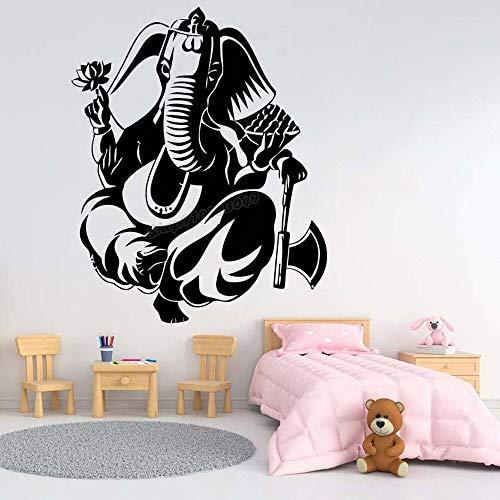 Zdklfm69 Pegatinas de Pared Adhesivos Pared Calcomanía de Elefante Elefante bebé Elefante decoración de habitación de Vinilo 76x61cm