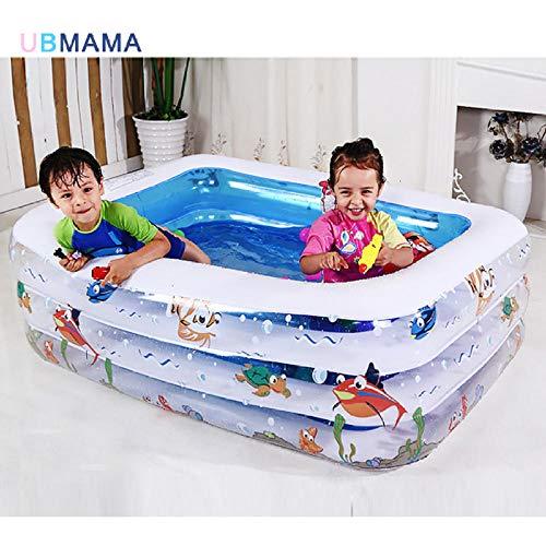 LeiDyWer Pools, Gartensaunas & Whirlpoolsaufblasbarer Pool Großer Kunststoffbecken Badewanne Wärmeschutz Sicherheitspool
