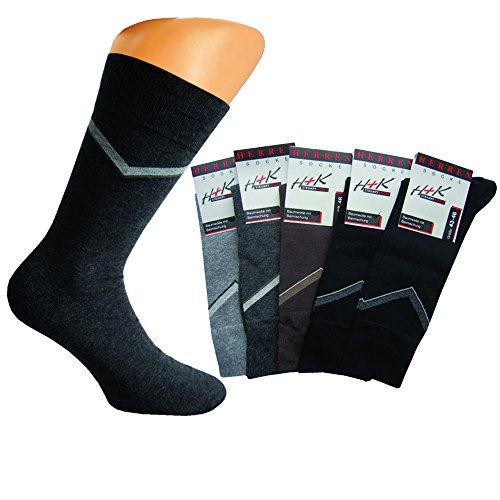 Art of baan® 8 Paar hochwertige Herren Socken aus Baumwolle mit Karo Muster 200 Nadeldichte 39-42