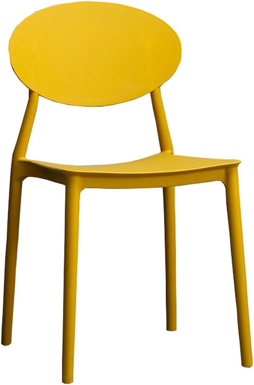 Household Plastic backrest Stool Adult Desk Coffee Shop Cafeteria chair Seven colors Optional