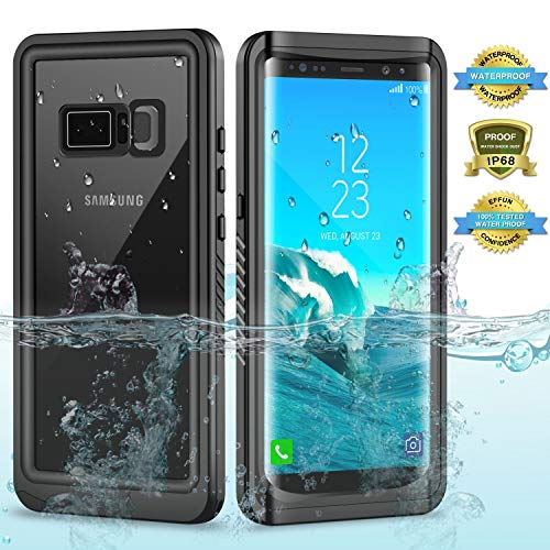 Tuvror Galaxy Note 8 Waterproof Case, Underwater Full Sealed Cover IP68 Certified for Waterproof Snowproof Shockproof and Dustproof with Built-in Screen Protector for Samsung Galaxy Note 8
