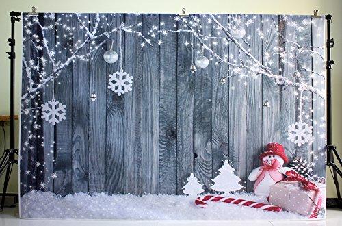nivius Photo Muñeco de Nieve y holzbrett fotografía Croma para weihnachtsfeier Decoración Niños de Fondo fotográfico XT 5899