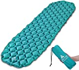 HIKENTURE Sleeping Mat Roll for Camping Camping Sleeping Mat and Inflatable Sleeping Pad - Compact and Moistureproof - for Hiking, Backpacking, Hammock,Tent (Blue)