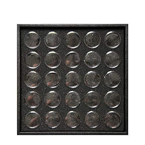 Toolmore Vide 25 Espace Art De L'ongle Poudre Gemmes Strass Conteneur De Stockage Etui Bo?Te Plaque Manucure