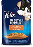 FELIX So gut wie es aussieht Katzenfutter nass in Gelee, mit Huhn & Tomate, 26er Pack (26 x 85g)