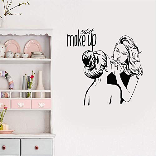 pegatinas de pared infantiles Maquillaje Artista Cosmético para salón de belleza.