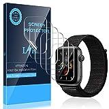 LK 6 Stück Schutzfolie für Apple Watch Series 5 44mm & Series 4 44mm Folie, [Kompatibel mit Hülle] [Blasenfreie] Klar HD Weich TPU Bildschirmschutz