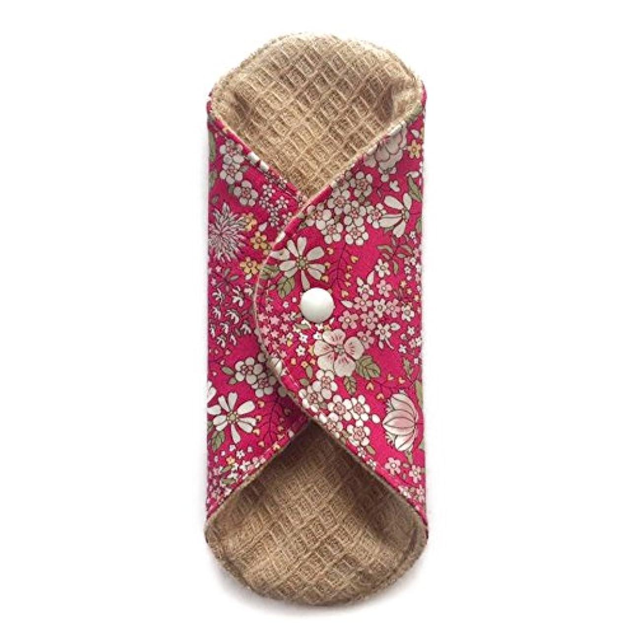 シャーユニークなビーズ華布のオーガニックコットンの極み あたため布 Sサイズ (約13×約13×約0.6cm) 雅(ローズ)