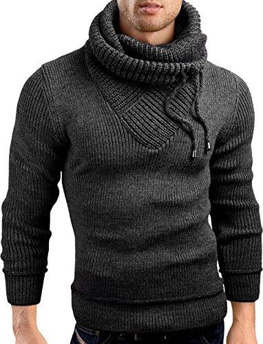 Grin&Bear Coup Slim Sweat Shirt col châle tricoté Veste Homme, Anthracite, M, GEC555