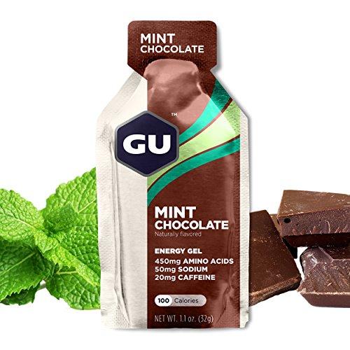 GU Energy Gel Mint Choccolate, 20mg Caffeine, Box 24Gel 32g