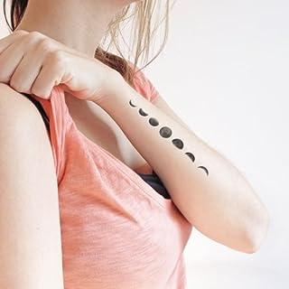 Fasi della Luna - Tatuaggio temporaneo (Set di 2)