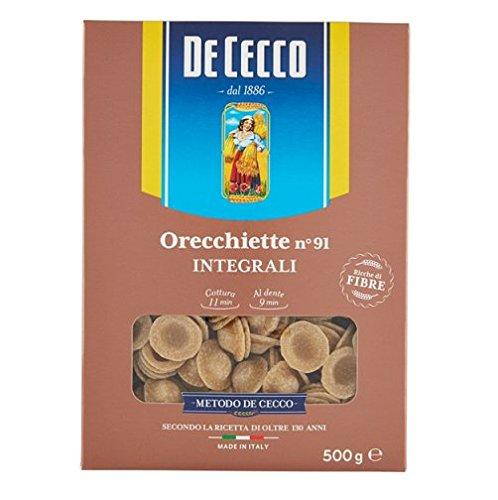 De Cecco Orecchiette Italian Whole Wheat (Integrale) Pasta No. 91. 500g