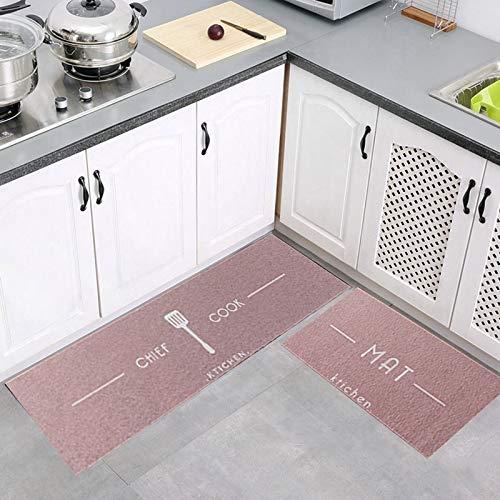 OPLJ Küchenteppiche rutschfeste Bodenmatte für Wohnzimmer Saugfähiger Teppich Flur Teppiche Raum Eingang Fußmatte Begrüßungsunterlage A4 40x60cm + 40x120cm