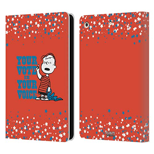 Official Peanuts Charlie Brown Your Vote Is Your Voice Leather Book Wallet Case Cover Compatible For Apple iPad Air (2013)