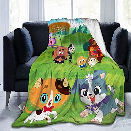 Keiou Rhyme Time Town Novelty Blanket Fleece Throw Blanket Super Soft Lightweight for Youth