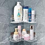 QIWODE Estantes organizadores de ducha de baño 2 niveles Estante de...