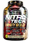 Whey Protein Powder   MuscleTech Nitro-Tech Whey Gold Protein Powder   Whey Protein Isolate Smoothie Mix   Protein Powder for Women & Men   Vanilla Protein Powder, 5.5 lbs (77 Serv)-package varies