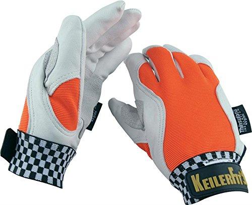 Handschuhe keiler fit winter, orange/weiß größe 10