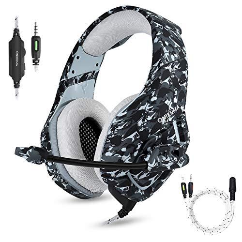 PS4 Gaming Headset Microphone à Casque Gaming réduction de bruit pour le nouveau Xbox One PC Gamer Headphones for Laptop Smart Phones Surround Stereo Sound Volume Control
