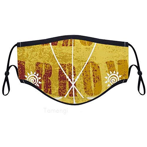 Unisex herbruikbaar gezichtsmasker gouden pijl anti-stofmasker verstelbare oor lus mond masker voor hardlopen, fietsen, outdoor activiteiten