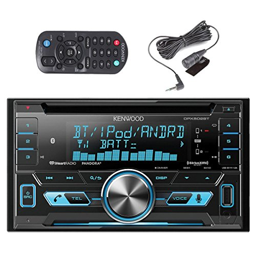 Kenwood DPX502BT Double Din CD Receiver with SiriusXM SXV300v1 Satellite Radio and MD818FE/A Lightening to USB and a Free SOTS Air Freshener