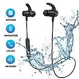 Cuffie Bluetooth 5.0 Bassi Potenziati e Stereo Hi-Fi, Mpow S10 IPX7 Impermeabili, Cuffie Wireless Sport con 9 Ore di Gioco, Auricolari Bluetooth Sport CVC 6.0 Cancellazione Rumore Microfono