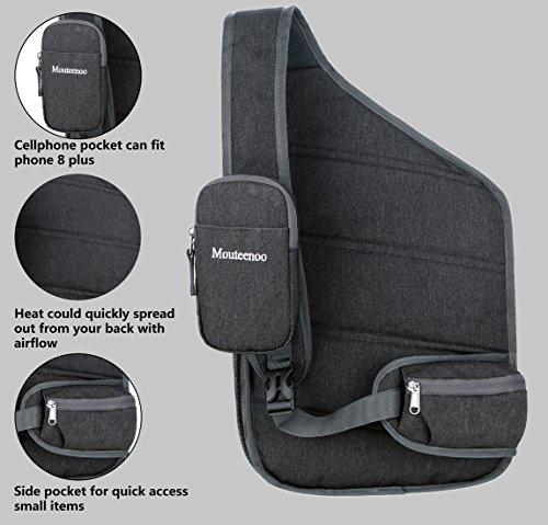 Sling Backpack for Men and Women Bag - Mouteenoo (Dark Grey)