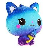 Squishie Bunte Katze Eiscreme Galaxie Süß Kinder Spielzeug Langsam Steigend Antistress Squishy Galaxy Cat Ice Cream Slow Rising Kawaii Soft (10*8*11cm)