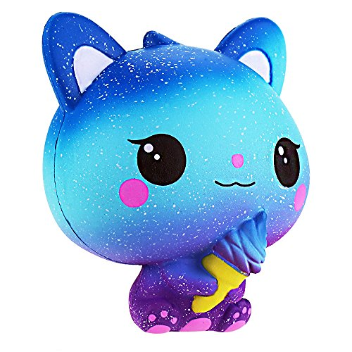 Squishie Bunte Katze Eiscreme Galaxie Süß Kinder Spielzeug Langsam Steigend Antistress Squishy Galaxy Cat Ice Cream Slow Rising Kawaii Soft (10*8*11cm)