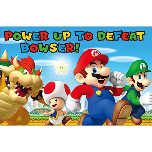 amscan - 271554 - Jeu de fête Nintendo Super Mario - Favoris - 4 pièces