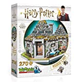Branpresto 3D Licencia Wrebbit-Harry Potter La Choza de Hagrid. Puzzle de 270 Piezas. (607962c HOGHAG)