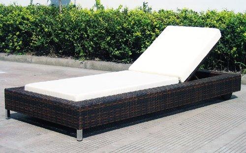 Baidani Designer Lounge-Liege Ocean Dream, braun meliert