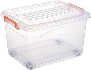 WUHE Boîte de Rangement Boîtes de Rangement for Placard avec couvercles et poignées, Rectangle Boîte de Rangement, paniers...